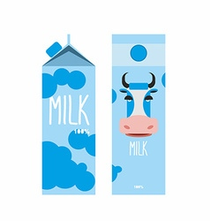 Packaging of milk Template design Package with vector image