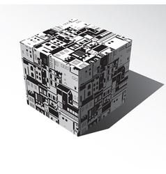 volumetric cube vector image