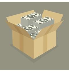 Box of money vector image
