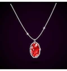 Beautiful gemstone red ruby vector