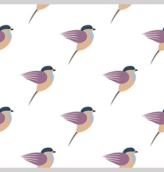 Pattern colorful birds vector