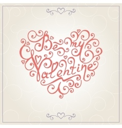 Valentines day congratulations card vector