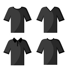 Shirt white set black vector