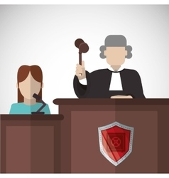 Law concept justice icon colorful icon editable vector