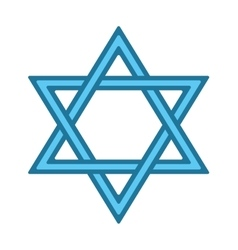 Jew star icon vector