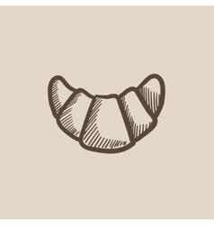 Croissant sketch icon vector