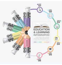 Education and learning step infographic with vector