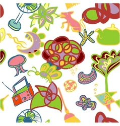Abstracl seamless pattern background vector image vector image