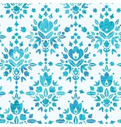 Abstract Flower Damask Seamless Pattern Background vector image