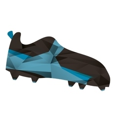 american football boot shoe spiked abstract vector image