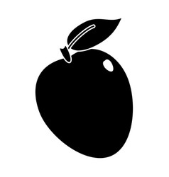 Apple ripe fruit icon pictogram vector