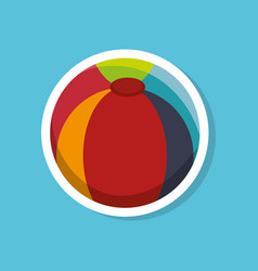 beach ball toy icon vector image
