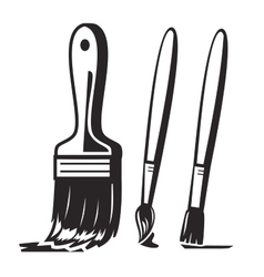 Black paint brush vector