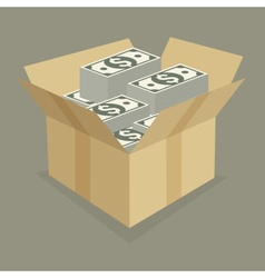 Box of money vector image