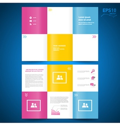 brochure folder leaflet colored squares white back vector image vector image