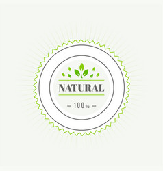 eco icon label organic tags flat stamp natural vector image vector image