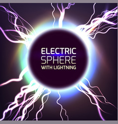 electric sphere light effect vector image vector image