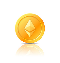 Ethereum coin symbol icon sign emblem vector