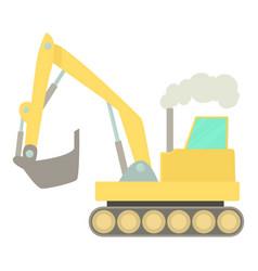 Excavator icon cartoon style vector