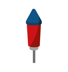 fireworks rocket icon vector image