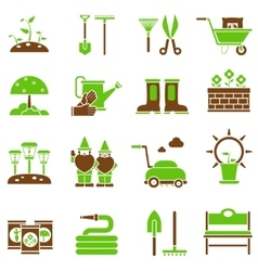 Gardening icons set vector image
