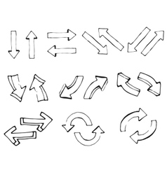 Hand drawn simple arrows set made in vector image