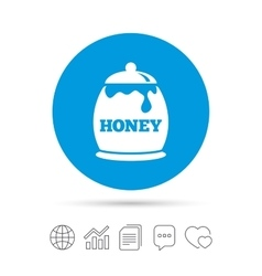Honey in pot sign icon sweet natural food vector