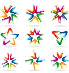 icon stars vector image vector image