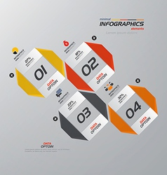 infographics design 4 vector image vector image
