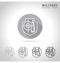 Military outline icon vector