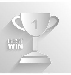 paper trophy background concept tamplate fo vector image