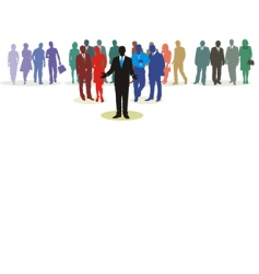 people network vector image