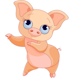 pig dance vector image