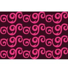 Pink ornate seamless pattern vector image vector image