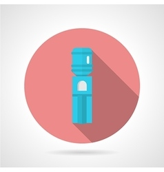 Pink round icon for water cooler vector
