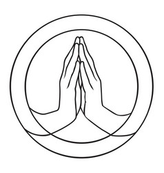 prayer vector image