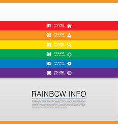 rainbow info art vector image
