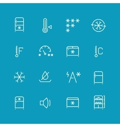 Refrigerator home fridge freezing icons vector image