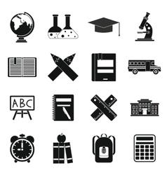 School icons set simple ctyle vector image vector image