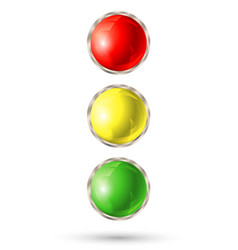 traffic light isolated on white background vector image vector image