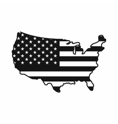 USA map icon simple style vector image vector image