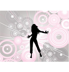 dancing female vector image