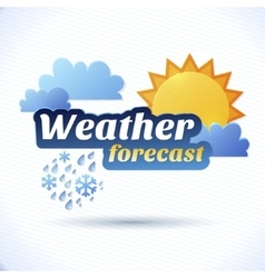 weather forecast vector image