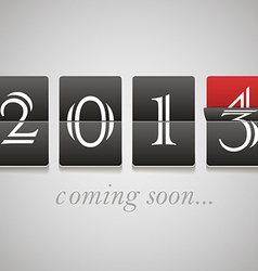 2014 coming soon vector image