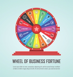 Wheel of fortune infographic design element vector