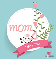Happy mothers day with floral bouquets background vector
