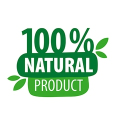 Green logo for 100 natural products vector