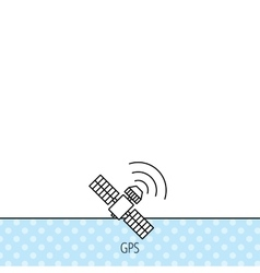 Gps icon satellite navigation sign vector