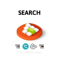 Search icon in different style vector