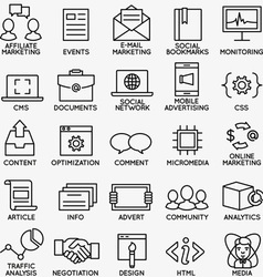 Set of seo and internet service icons - part 4 vector image